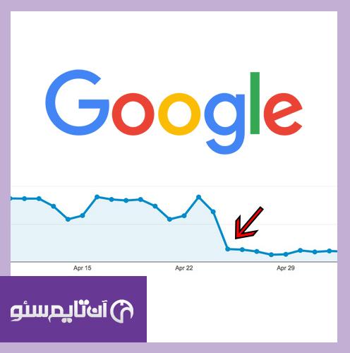 افت بازدید و رتبه عبارات سایت در موتور جستجوگر گوگل و همه دلایل مهم آن